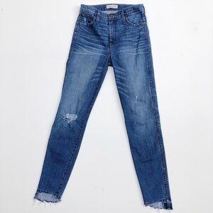 "Madewell Jeans - Madewell 10"" High Rise Drop Step Hem Skinny Jeans"